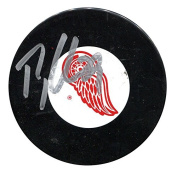 Ty Conklin Autographed Detroit Red Wings Puck