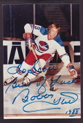 Autographed Hull Photograph - 4x6 Jets HOF - PSA/DNA Certified - Autographed NHL Photos