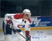 Signed Damphousse Photo - 8x10 Image #SC3 inscribed 93 Cup - Autographed NHL Photos