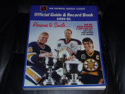 1990 1991 NHL HOCKEY GUIDE AND RECORD BOOK BRETT HULL MESSIER BOURQUE COVER