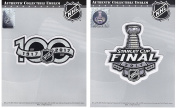 Official NHL 2017 Stanley Cup Finals and 100th Anniversary Patches Lot of Two