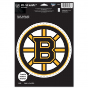 NHL Boston Bruins 85636010 Die Cut Logo Magnet, Small, Black