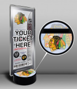 NHL Chicago Blackhawks Hockey Puck Ticket Display Stand, One Size, Multicoloured