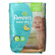 Pampers Baby Dry Nappies Carry Pack - Size 6+, 19 Nappies