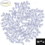 Johouse Clear Rubber Bullet Clutch Earring Safety Backs for Fish Hook Earrings,1000 PCS