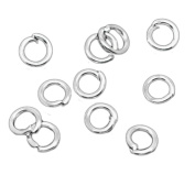 2000 Count - 3.5mm OD Shiny Silver Tone Plated 22g (0.7mm) Thick - Open Jump Rings