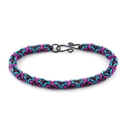 Weave Got Maille Purple Flirt Byzantine Chain Maille Bracelet Kit
