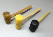 3 MALLETS RAWHIDE MALLET RUBBER & PLASTIC MALLET jewellery LEATHER CRAFTS SET OF 3