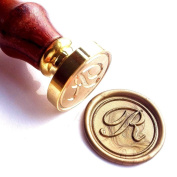 Vooseyhome Initial Letter Alphabet R Wax Seal Stamp with Rosewood Handle