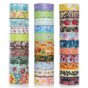 DECORA 32 Pieces Decorative Washi Masking Tape Set DIY Arts & Crafts Tape and Gift Wrapping