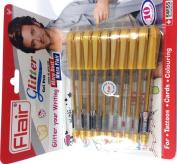 Xtra Sparkle Golden Glitter Gel 10 Golden pen Xtra Sparkle Gel Pen For Art and Craft for creative kids by Flair