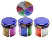 Classic Colour Glitter Shaker, Pour Spout / Shaker Holes, 60g / 60ml - 6 Colours