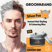 Groomarang Silver Fox Instant Free Style Hair Styling & Colouring Wax Grey Temporary Dye