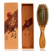 Neverland Beauty Sandalwood Air Cushion Massage Hair Brush Anti-Static Hair Detangling Improve Hair Growth, Prevent Hair Loss, Massage Scalp For Healthy Gift Box Included