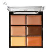 Toraway 6-Colour Concealer Primer Beauty Contour Face Cream Makeup Concealer Palette