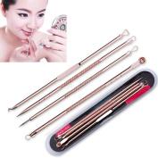 Toraway New 4Pcs Pimple Blemish Blackhead Acne Extractor Remover Tool Needles
