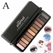 Toraway New 12 Colours Women Pro Cosmetic Matte Eyeshadow Cream Makeup Palette Shimmer Set