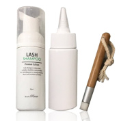 BEAUTY RRIOR Lash Shampoo Set Eyelash Aftercare Premium Edition Cleansing Brush Bottle Nourish Cleanse (lash shampoo set