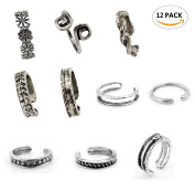 10PC Sc0nni Women Fashion Simple Retro Toe Ring Adjustable Foot Beach Jewellery
