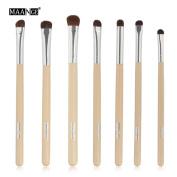 MAANG 7 pcs Makeup Brush Set tools Make-up Toiletry Kit Wool Make Up Brush Set
