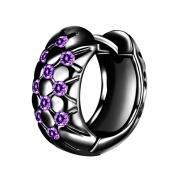 Niceskin Shiny Rhinestone Grid Earring for Women, 1Pair, 16MM