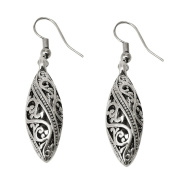 Niceskin Hollow Engraved Silver Hanging Earring for Women, Alloy