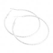 Niceskin Silver Plated Loop Hoop Earring Stud for Women, Silver Plated