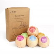 U-KISS 6 Different Flavour Function Skin Care Organic Handmade Natural Bath Ball Bomb