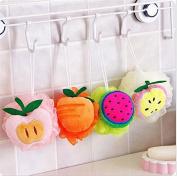 MINEJ - Fruit Scrubber Bath Shower Mesh Sponge Exfoliating Body Brush Wash Nylon Puff