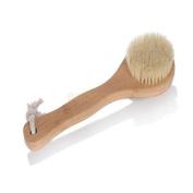 MINEJ - Exfoliating Body Back Bamboo Brush Shower Bristles Spa Scrub Bath Scrubber