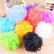 MINEJ - 10PCS Bath Shower Sponge Mesh Scrunchie Body Wash Scourer Puff Shower Net Ball