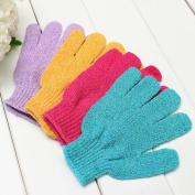 MINEJ - 2Pcs Shower Bath Gloves Exfoliating Wash Skin Spa Massage Loofah Body Scrubber