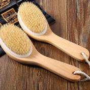 MINEJ - 1x Body Natural Bristle Dry Skin Exfoliation Brush Massager Bath Shower Scrubber