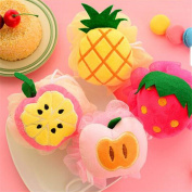 Fruit Bath Ball Colourful Sponge Flower Accessories Cleaning Tools Scrubbers Washing Dishes