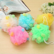 Multifunction Colour Essential Toiletries Bath Sponge Ball Back Rub Shower Body Cleaning Scrubber Brush