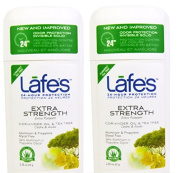 Lafe's Extra Strength Deodorant Stick (Pack of 2) With Tea Tree Oil and Grapefruit, 70ml Each