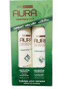 Aura Rosemary Mint Rejuvenating Shampoo & Conditioner, 400ml