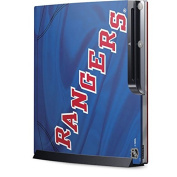 NHL New York Rangers Playstation 3 & PS3 Slim Skin - New York Rangers Home Jersey Vinyl Decal Skin For Your Playstation 3 & PS3 Slim