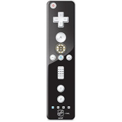 NHL Boston Bruins Wii Remote Controller Skin - Boston Bruins Solid Background Vinyl Decal Skin For Your Wii Remote Controller