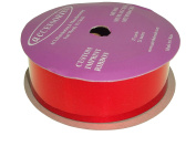 ACI PARTY AND SPIRIT ACCESSORIES Metallic Mylar Ribbon, Size #9, 25 yd. Roll, Red
