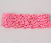 """7/8"""" 23mm Elastic Lace Ribbon Trimings Stretch Embroidered Lace 10 Yards"""