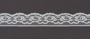 Ribbon Bazaar Lace 2611 Flat 2.5cm - 0.6cm White By the Yard 100% Polyester