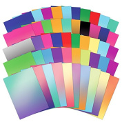 Hunkydory 50 Shades of Mirri Ombre 50 Different Colour Sheets in Rich 220gsm Mirror Board