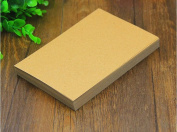 Candora 100pcs A6 Blank Kraft Paper / Business Cards / Word Card / DIY Postcard / Message Card DIY Gift Card