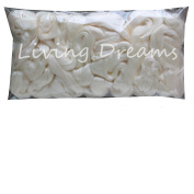 Milk Protein Fibre for Spinning Blending Dyeing Felting and Fibre Arts. Pearlescent White Super Soft Combed Top.