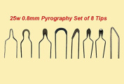 Jian Ya Na 25W 0.8 mm Pyrography Wire Tips Set of 8 Tips