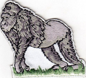 GORILLA - APE - ZOO - JUNGLE ANIMALS - Iron On Embroidered Patch