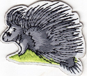PORCUPINE - FOREST ANIMAL - ZOO - IRON ON EMBROIDERED PATCH - WILD ANIMALS
