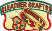 """LEATHER CRAFTS"" IRON ON EMBROIDERED PATCH - CRAFTS - HOBBY - SKILLS"