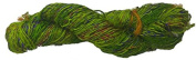 Knitsilk Spartan Greenish Multi Sari Silk Yarn -